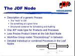 the jdf node