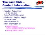 the last slide contact information