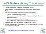 datx metamodeling toolkit