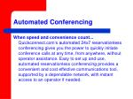 automated conferencing