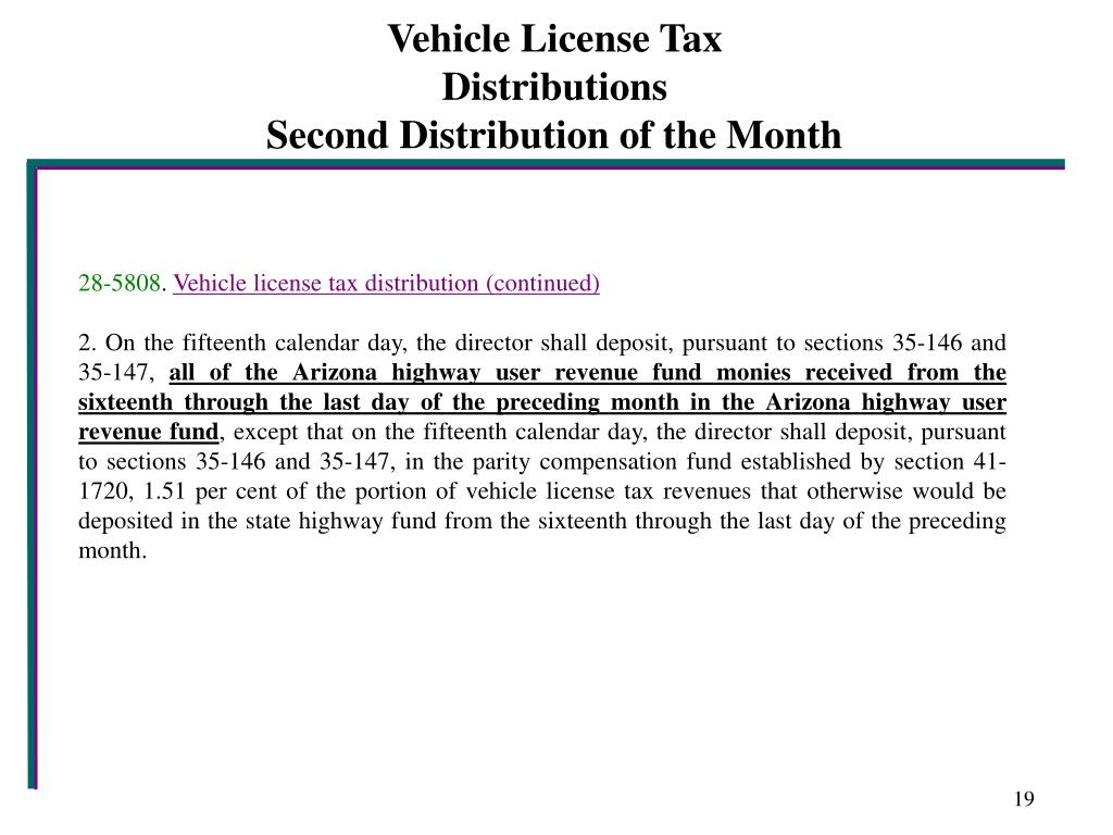 Vehicle License Tax