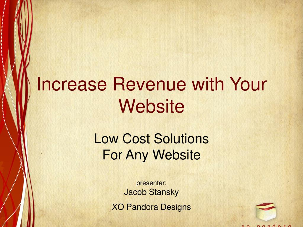 increase revenue with your website l.