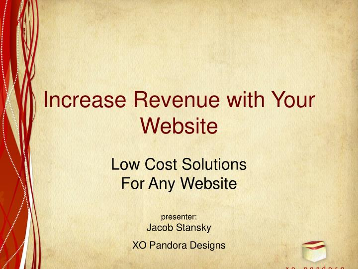 increase revenue with your website n.