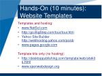 hands on 10 minutes website templates