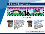 online storefronts