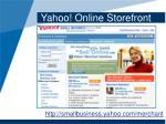 yahoo online storefront