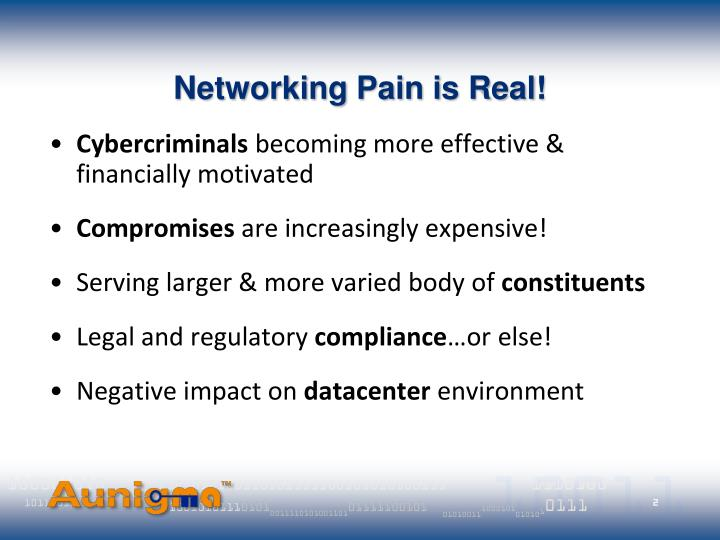 Networking pain is real