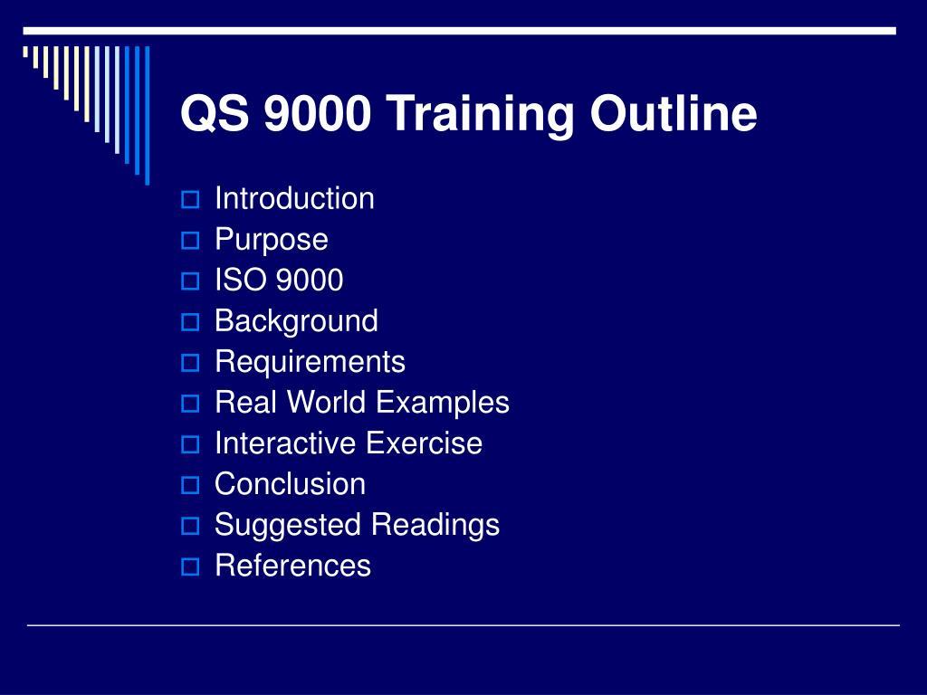 QS 9000 Training Outline