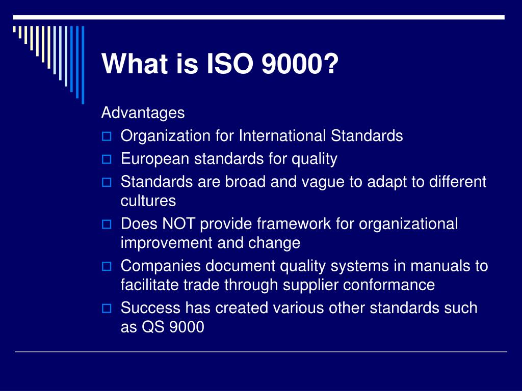 What is ISO 9000?