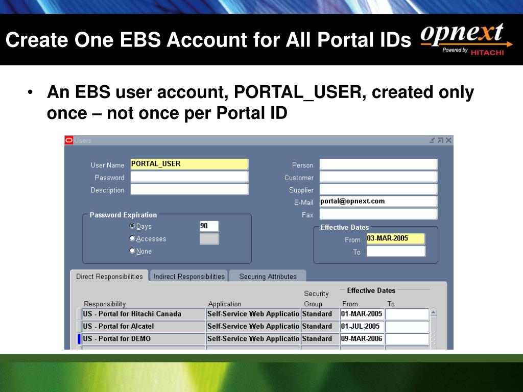 Create One EBS Account for All Portal IDs