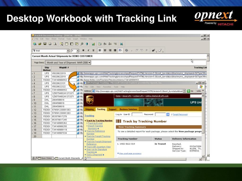 Desktop Workbook with Tracking Link