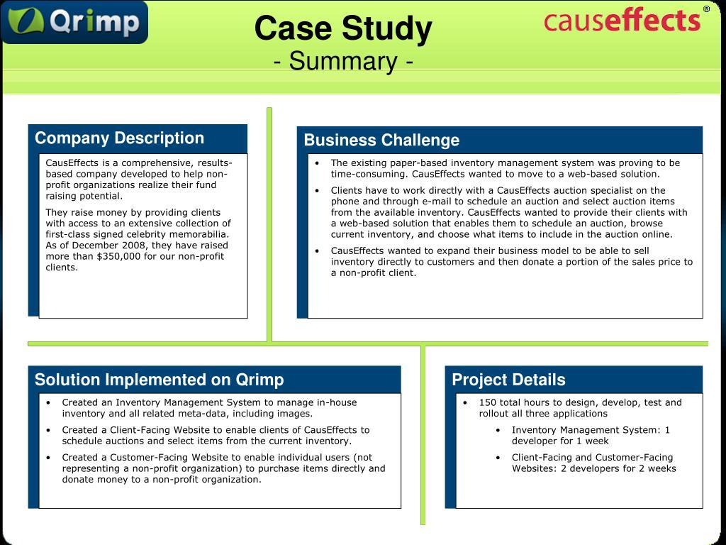 case study summary l.