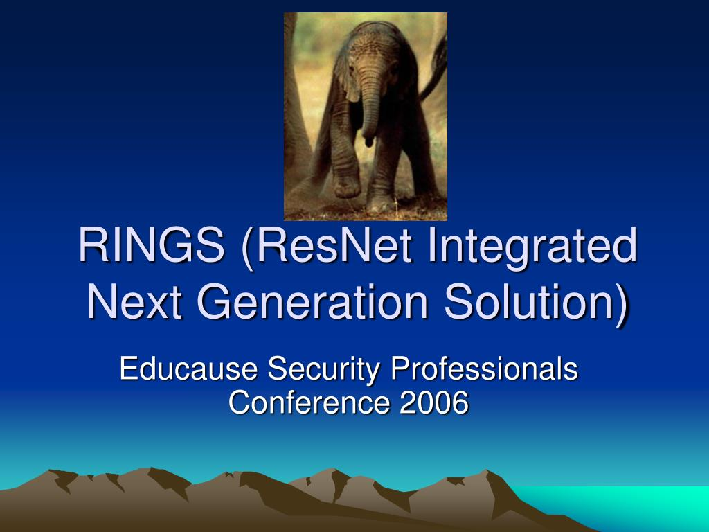 rings resnet integrated next generation solution l.