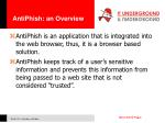 antiphish an overview
