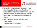 exploit based phishing attacks