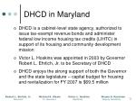 dhcd in maryland
