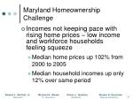 maryland homeownership challenge