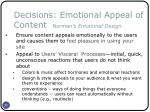 decisions emotional appeal of content norman s emotional design