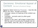 decisions emotional appeal of content norman s emotional design33