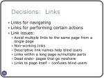 decisions links