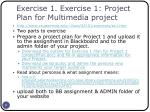 exercise 1 exercise 1 project plan for multimedia project