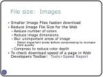 file size images