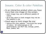 issues color color palettes