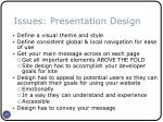 issues presentation design