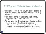 test your website to standards