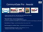 communigate pro awards