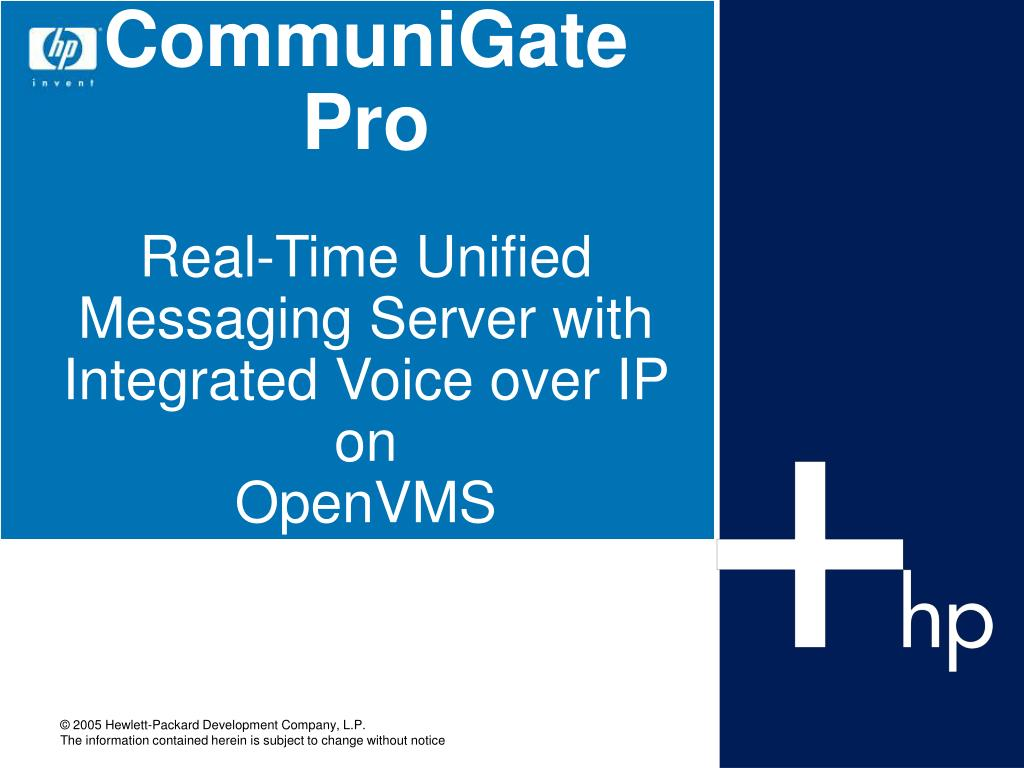 communigate pro real time unified messaging server with integrated voice over ip on openvms l.