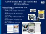 communigate pro voice and video communications