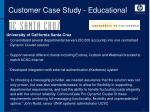 customer case study educational