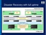 disaster recovery with full uptime