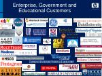 enterprise government and educational customers