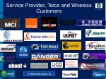 service provider telco and wireless customers
