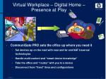 virtual workplace digital home presence at play