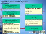 application to automated compliance the connected path26