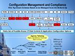 configuration management and compliance