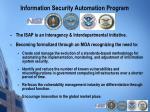 information security automation program
