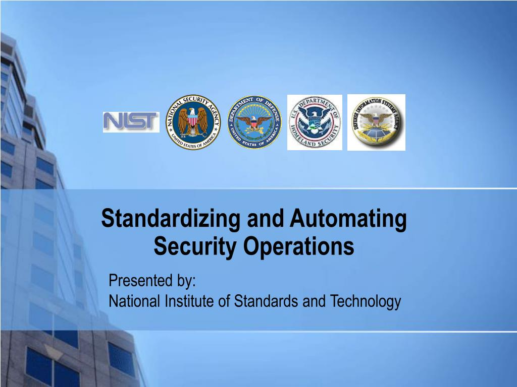 standardizing and automating security operations l.