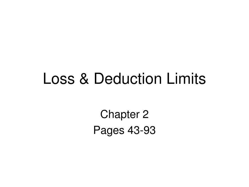 loss deduction limits l.