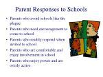 parent responses to schools