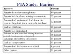 pta study barriers