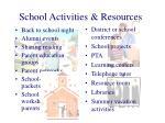 school activities resources