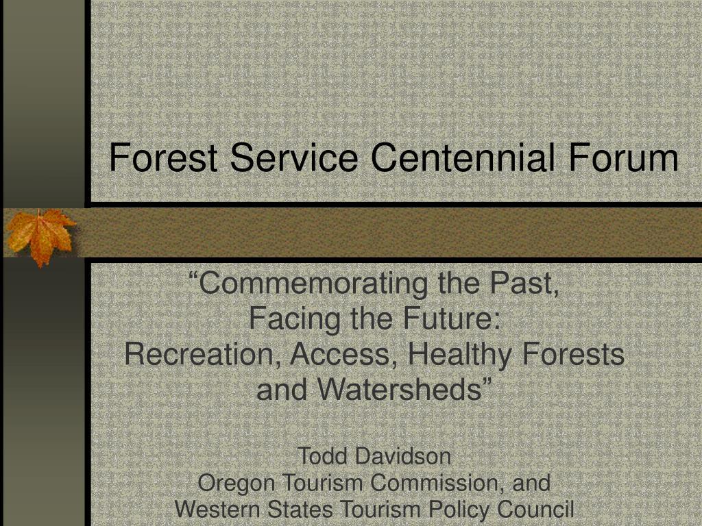 forest service centennial forum l.