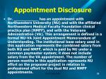 appointment disclosure