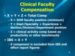 clinical faculty compensation