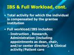 ibs full workload cont