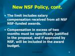 new nsf policy cont